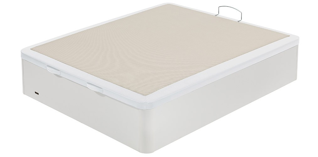 Canape abatible con tapa tapizada en polipiel flex madera 25 for Canape software