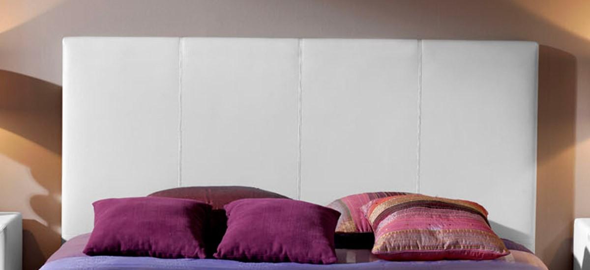 Cabecero de cama tapizado Polipiel Liso