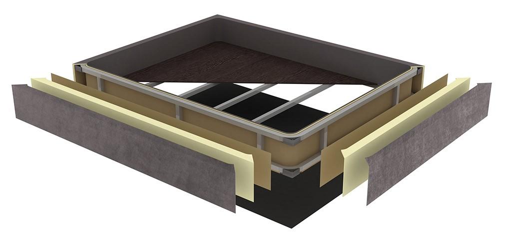 Canape abatible tapizado Ecus Square