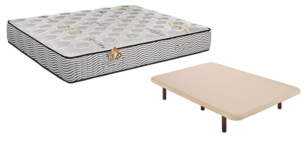 Pack ahorro de colch n relax q10 elyo base tapizada ares en oferta - Base para colchon viscoelastico ...