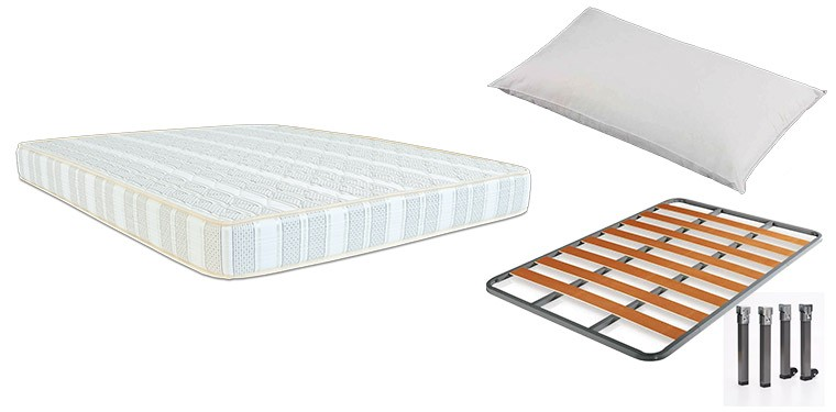 PACK COLCHON MAGIC FOAM + SOMIER CHOPO + ALMOHADA