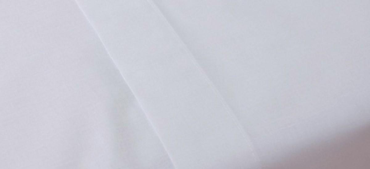 Sabana Encimera Algodón Percal Blanca