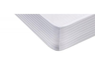 Cubre colchón 100% Algodón Listado Ajustable