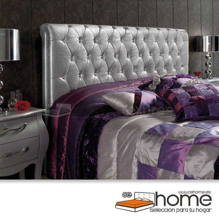 Cabecero de cama tapizado polipiel CeHome Lorelay descatalogado