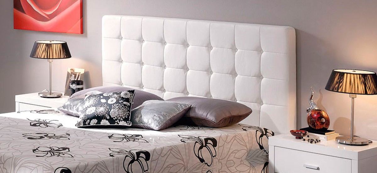 Cabecero de cama tapizado Ecopiel con Capitone