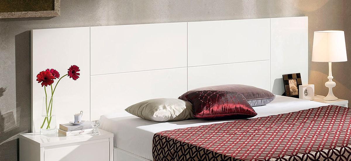 Cabecero de cama lacado blanco alto brillo ce home sevilla - Cabeceros de cama blancos ...