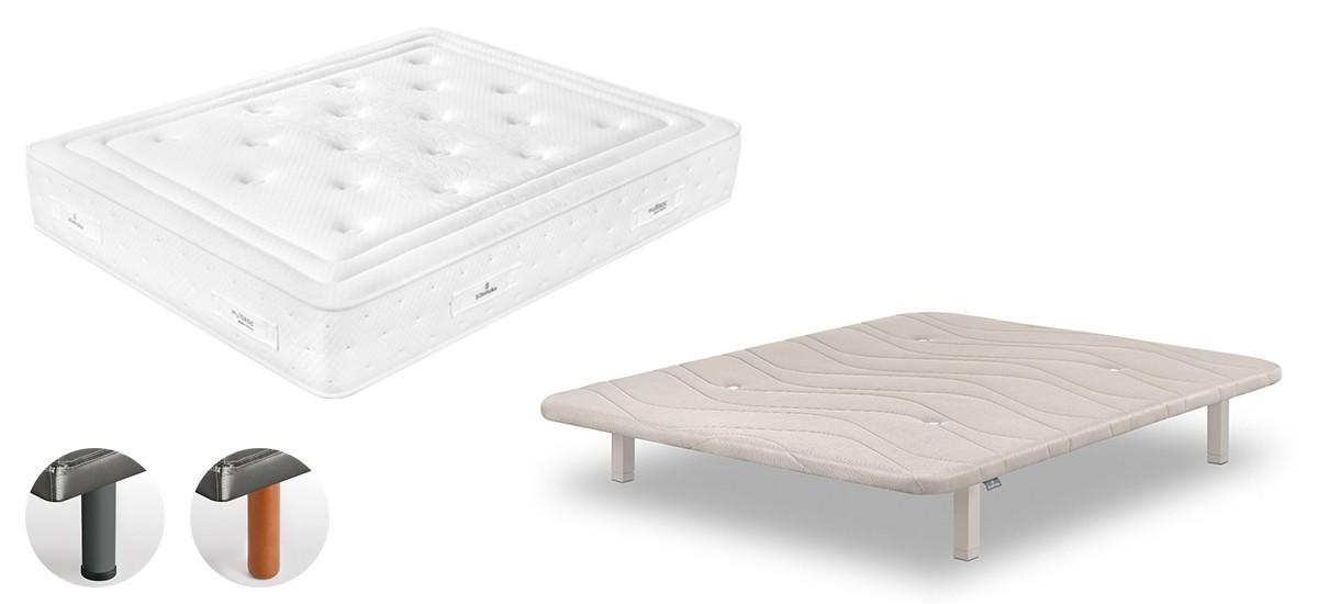 Pack ahorro Colchón viscoelastico Gaudi + Base tapizada Concept