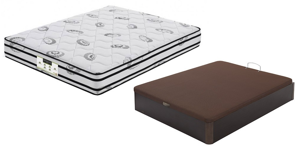 Oferta pack ahorro rebajas colch n con canap madera 19 flex - Muelles de canape ...