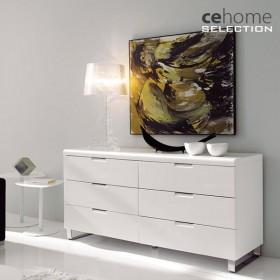 Comoda dormitorio con 6 Cajones CE Home Cromo (Descatalogado)