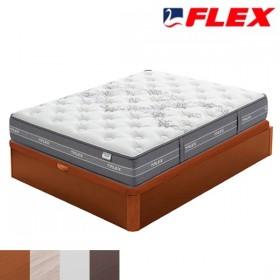 Pack Ahorro Colchón Viscoelástico Flex Nube + Canapé Flex Madera 19