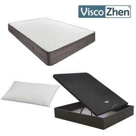 Pack Ahorro Colchón Viscozhen V200 + Canapé Abatible Heat + Regalo Almohada microfibra