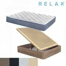 Pack Ahorro Colchón Relax Restful Spring + Canape Abatible Relax Boheme
