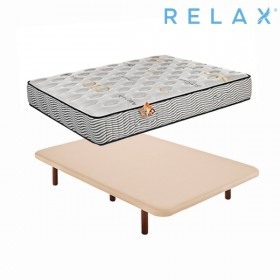 Pack Ahorro Colchón Relax Viscoelástico + Base Tapizada Tapi-Relax Ares en Beige