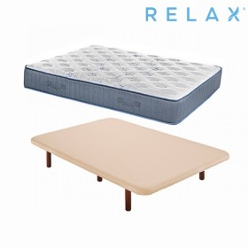 Pack Ahorro Colchón Relax Restful Elyo + Base Tapizada Relax Ares con Malla en 3D Beige