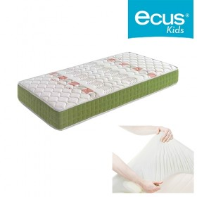 Pack colchón Ecus Kids Akuma Oxygen + Cubre Colchón Tencel Transpirable e Impermeable