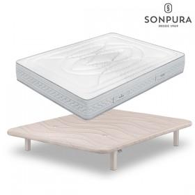 Pack Ahorro Colchón Sonpura Fusión y Base tapizada Sonpura Concept