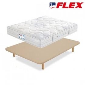 Pack Ahorro de colchón Flex Habana y Base tapizada Tapiflex con Patas