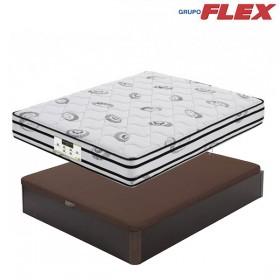 Pack Ahorro Flex con Colchón de Muelles y Visco con Canapé Abatible Flex Madera 19