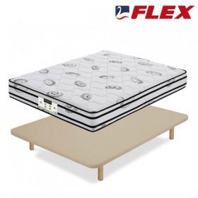 Pack Ahorro Colchón de Muelles y Visco con Base tapizada Tapiflex