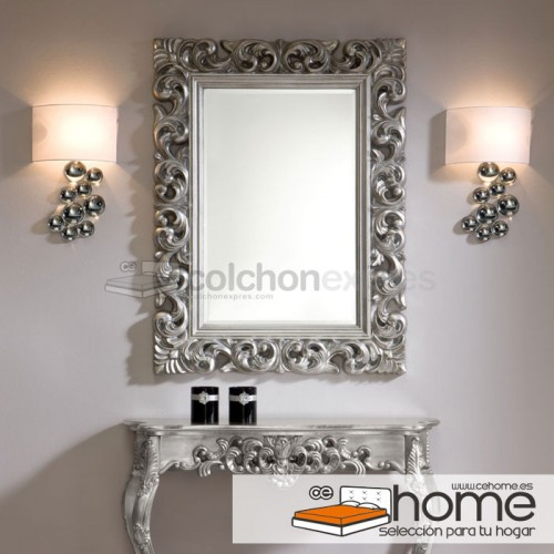 Espejo modelo barroco silver