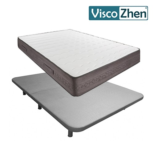 Pack colchón V200 + Base Tapizada Exprés