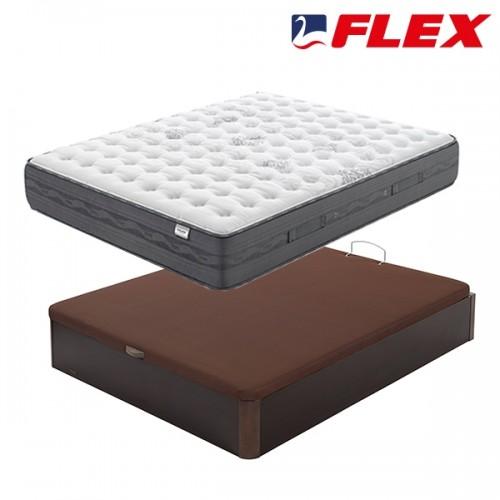 Pack ahorro Colchón Flex Nimbus + Canapé madera 19