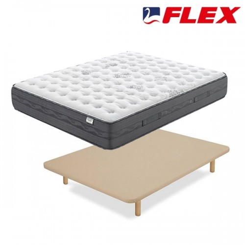 Pack ahorro Colchón Flex Nimbus + Base tapizada Tapiflex