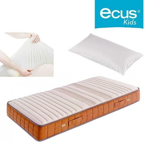 Pack ahorro Colchón juvenil Ecus Toys + Almohada Chiquitin + Cubre colchón Impermeable